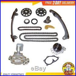 Timing Chain Water Pump Oil Pump Kit Fits 01-09 Toyota 2.0L 2.4L DOHC 16v 2AZFE