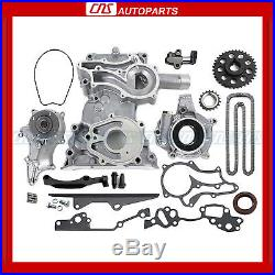 Toyota 2.4L Timing Cover Chain Kit with HD STEEL RAIL Oil & Water PUMP 22RE PICKUP