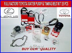 Toyota Lexus Es300 Es330 Camry Oem Timing Belt& Water Pump Kit 3.0 & 3.3 Ltr