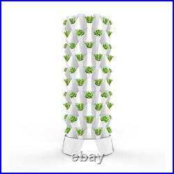 Vertical Hydroponic System Tower Garden 6 LED Grow Lights 5 lbs Fertilizer Kit