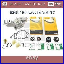 Wasserpumpe Zahnriemen Thermostat Laufrollen Für Porsche 924s 944 951 Turbo -87