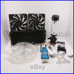Water Cooling Kit 240 Radiator CPU GPU Block Pump Reservoir Tubing Best Value
