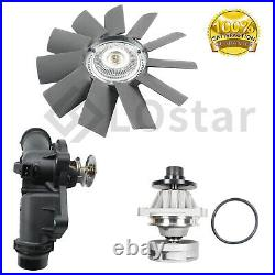 Water Pump Fan Clutch Thermostat Assembly Kit Fit 99-06 BMW 3 Series X5 2.5 3.0